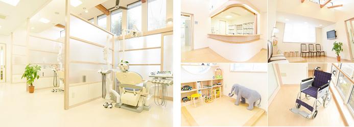 「開放感あふれる医院」「高齢者も安心のバリアフリー」「キッズスペース」を設計しました