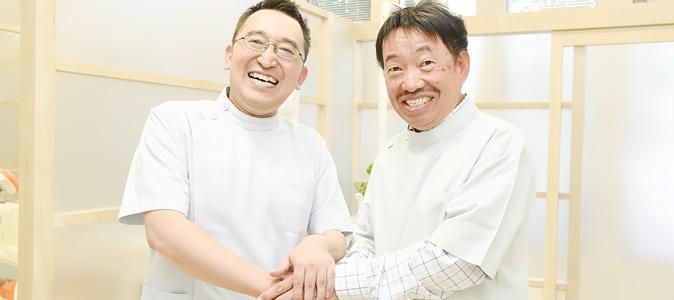 院長と技工士